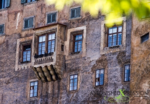The windows from where the incarcerated Don Julius would gaze upon Cesky Krumlov