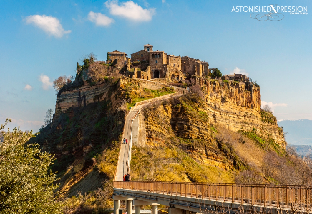 The ancient Etruscan town of Civita di Bagnoregio in Italy is one of the most endangered cultural sites in the world.