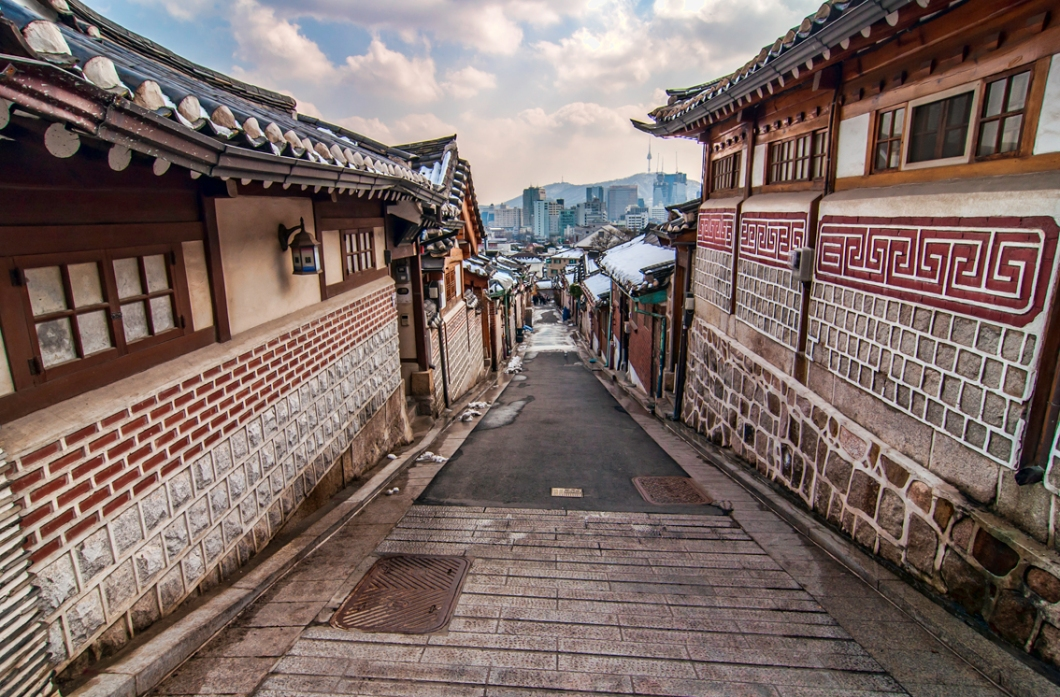 Bukchon is the last remaining hanok suburb in the nation's capital