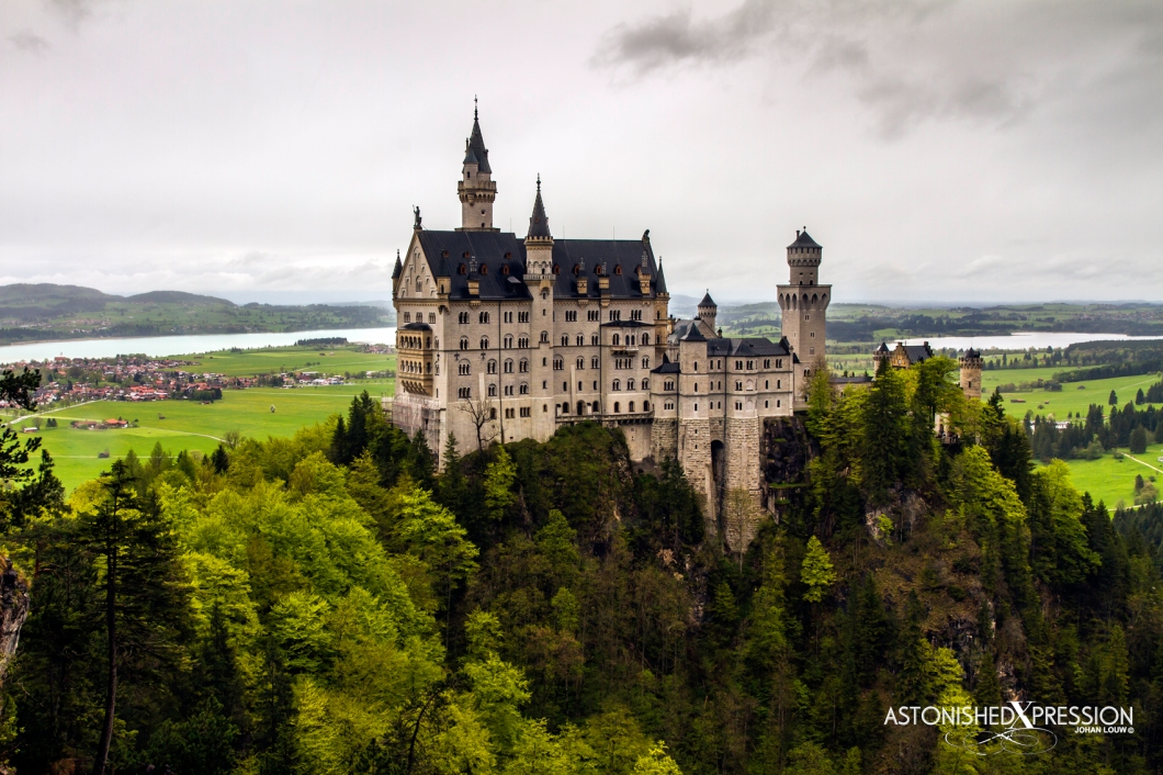 Bavarian King Ludwig II's homage to Richard Wagner: Neuschwanstein Castle, the inspiration for Disney's Sleeping Beauty Castle