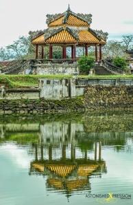 hue vietnam reflection pagoda lake