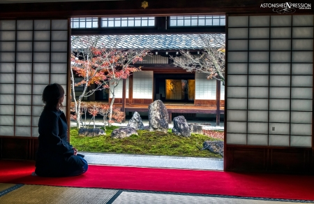 kenninji temple kyoto japan shoji garden