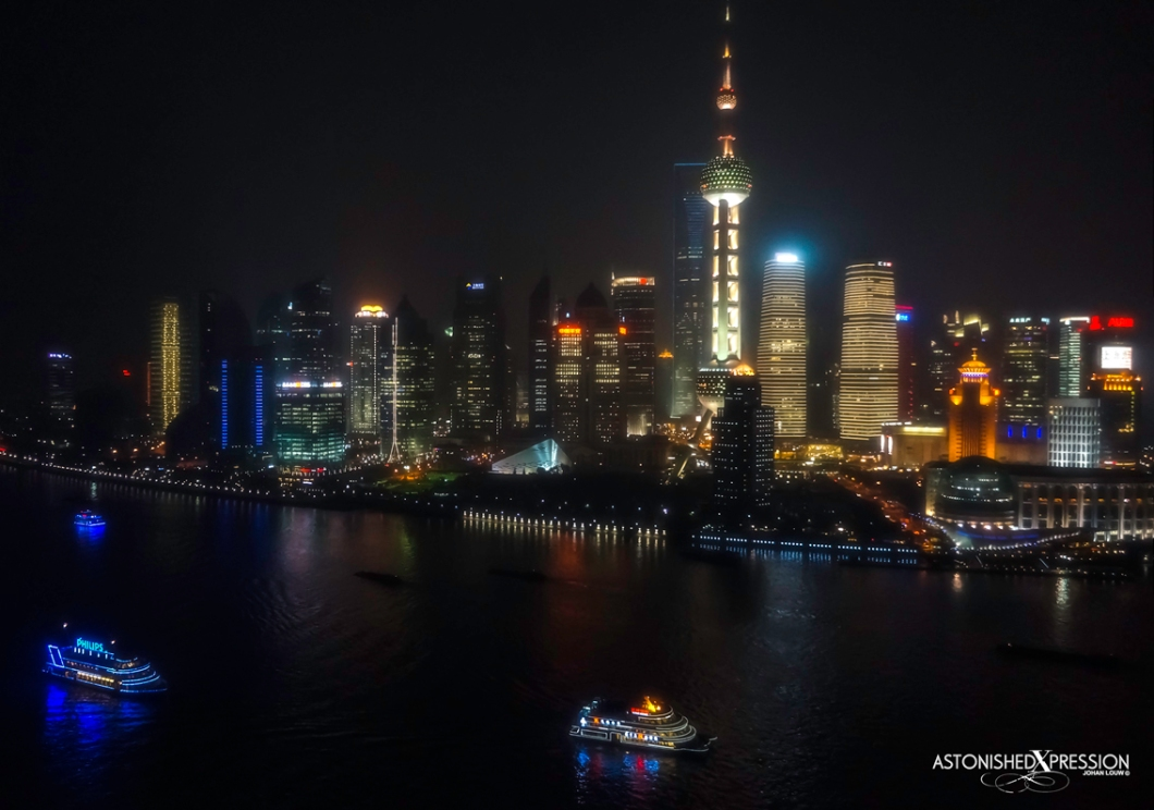 Shanghai's Pudong area with the Oriental Pearl Tower in ascendancy