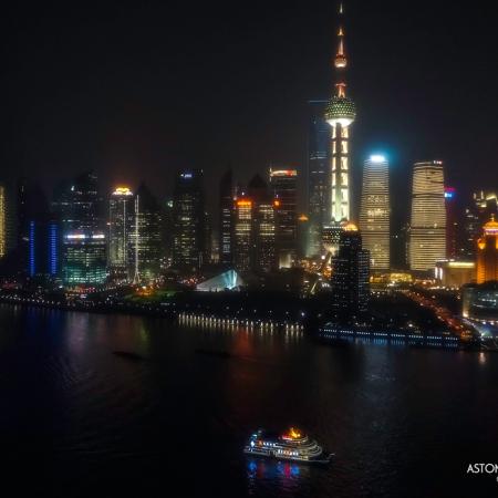 pudong shanghai china night