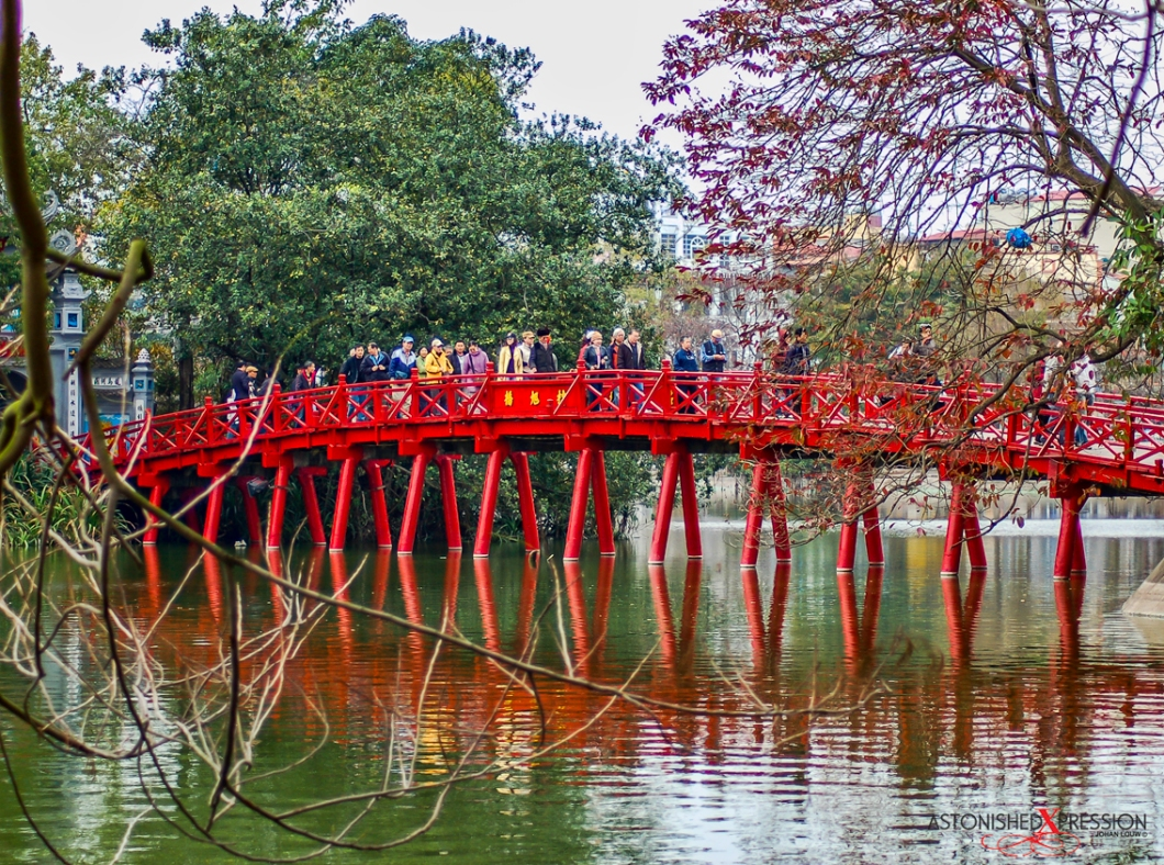 Huc Bridge Hoan Kiem Lake Hanoi