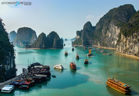 Junks set sail in Halong Bay