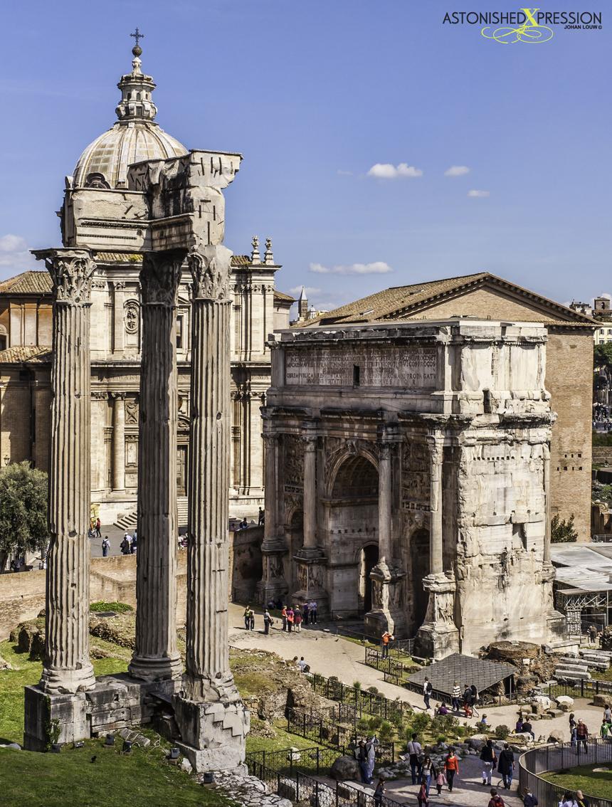 Italy Rome Temple of Vespasian