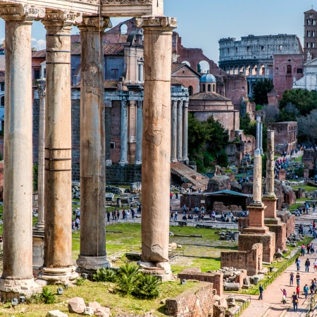 Italy Rome Temple of Saturn