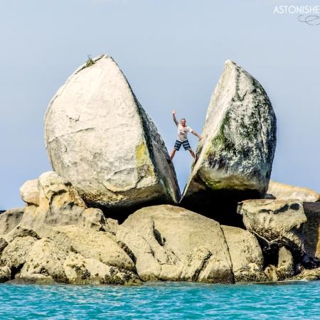 Split Apple Rock New Zealand