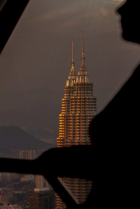 Petronas Twin Towers sunset